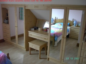Fitted Wardrobe Furniture Cork with Jonathan Evans Carpentry Joinery Tel: 086-2604787